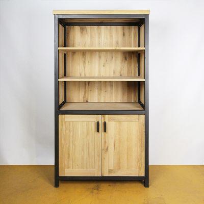 Industrieel - oud eiken - boekenkast