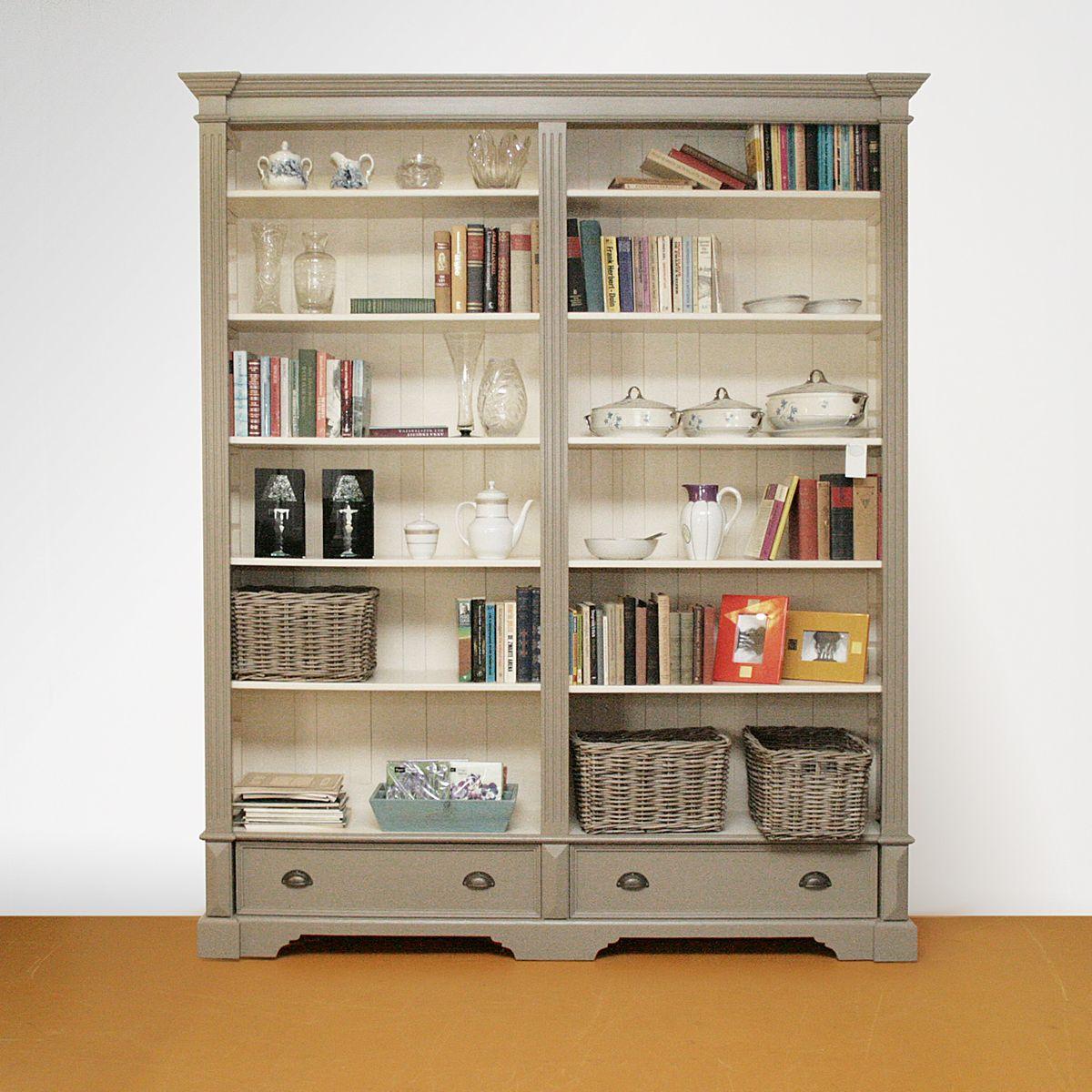 Vuren boekenkast geschilderd gerard keune meubels op maat - Eettafel schans ...
