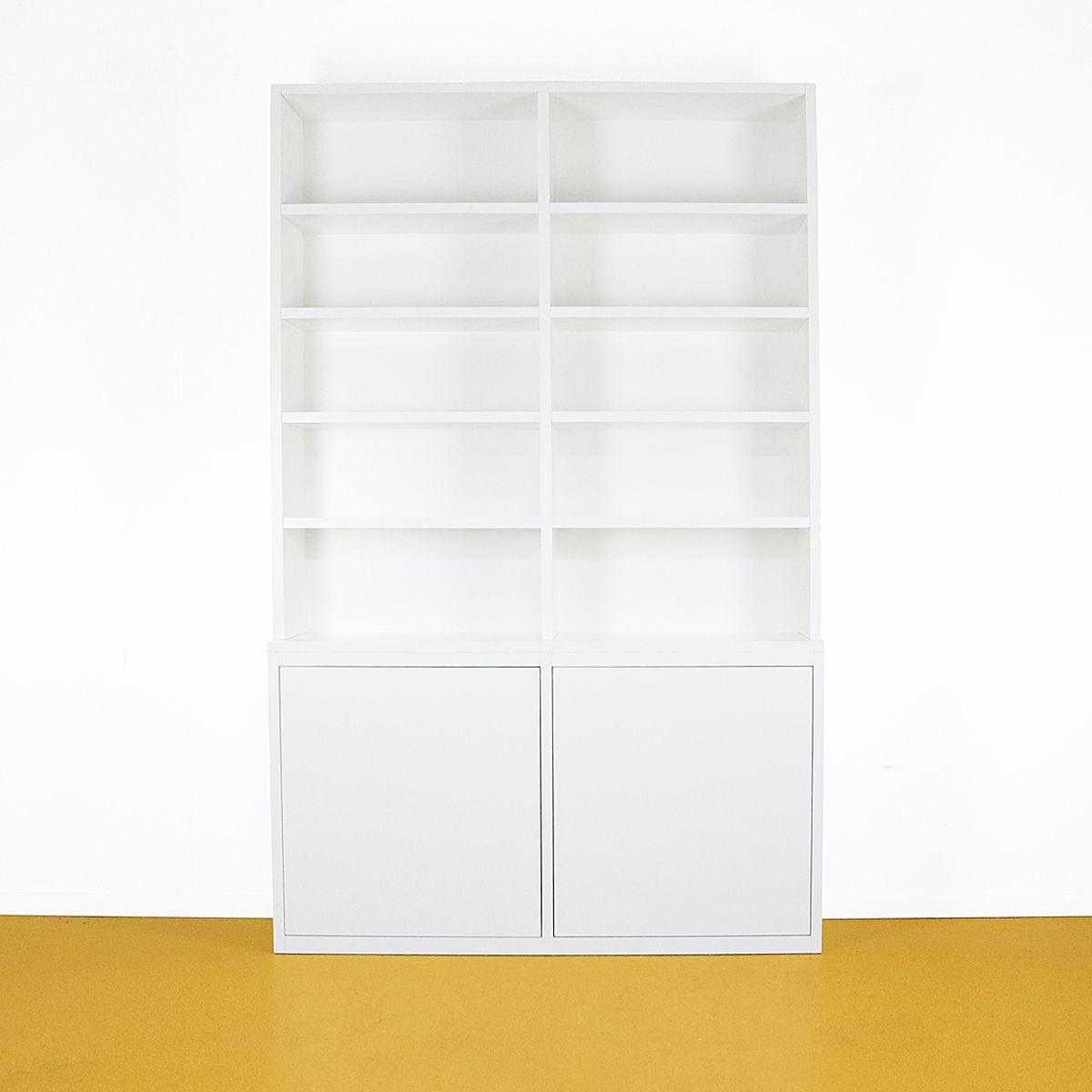 Boekenkast modern wit