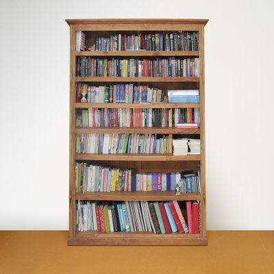 Boekenkast op maat teakhout