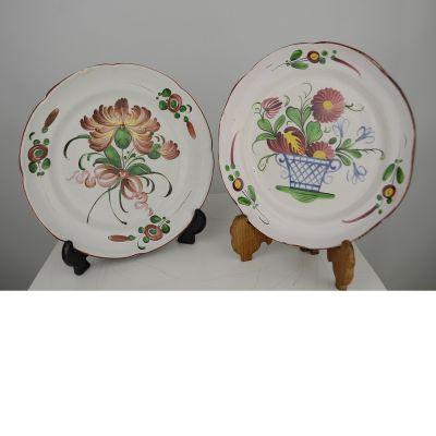 2 Franse bordjes vroeg 19de eeuw
