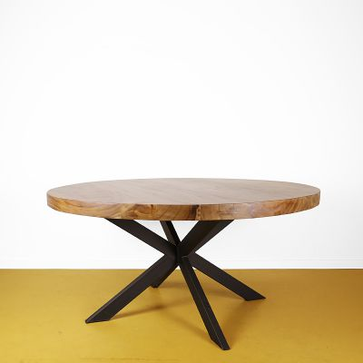 Eettafel rond Suar hout