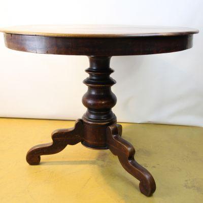 Eettafel rond - mahoniehout - eind 19de eeuw