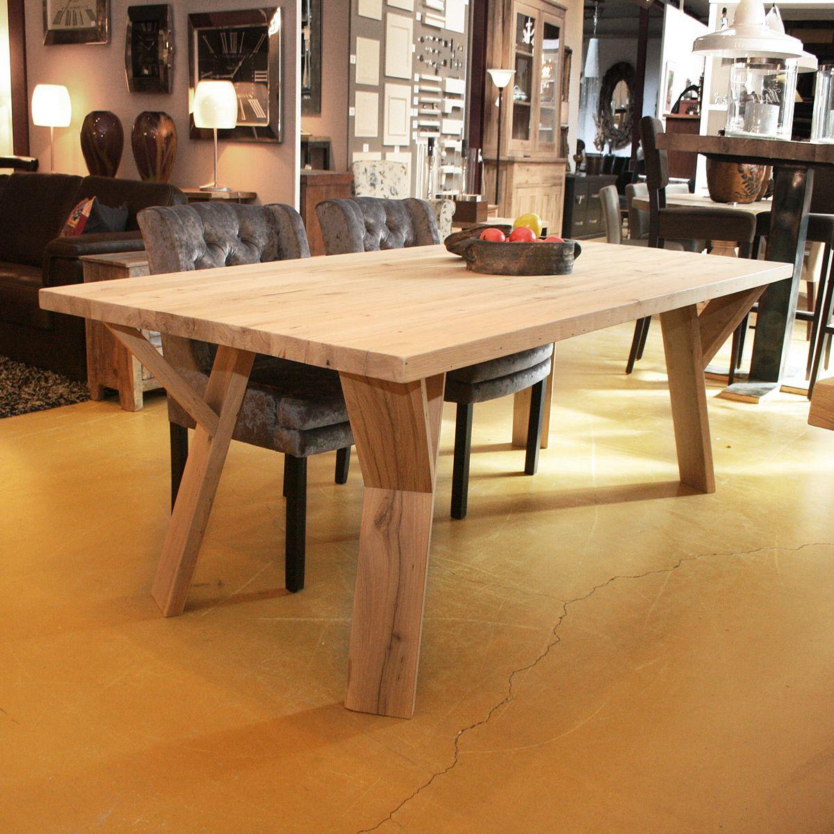 Eettafel oud eiken 3 gerard keune meubels op maat - Eettafel schans ...