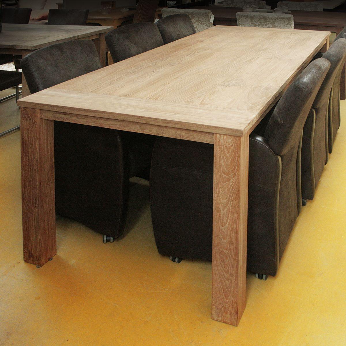 Eettafel teak oud hout gerard keune meubels op maat - Eettafel schans ...
