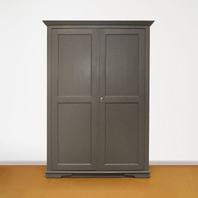Linnenkast op maat grijs 2-deurs