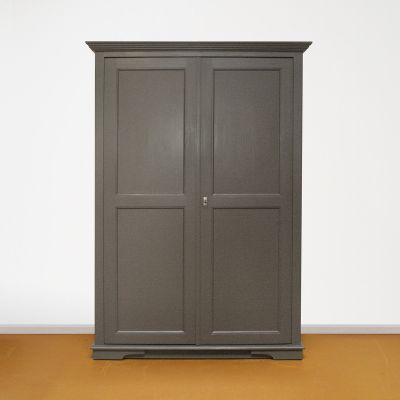 Linnenkast grijs 2-deurs
