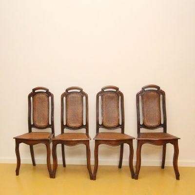 Mahonie houten stoelen 4