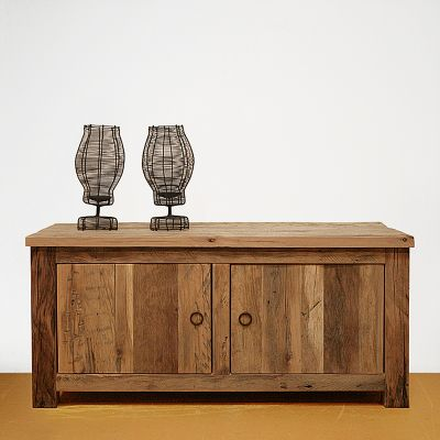 Oud eikenhouten tv kast