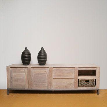 TV dressoir op maat oud eikenhout