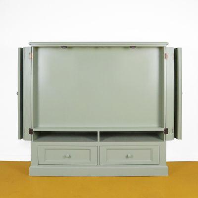 TV kast met deuren open