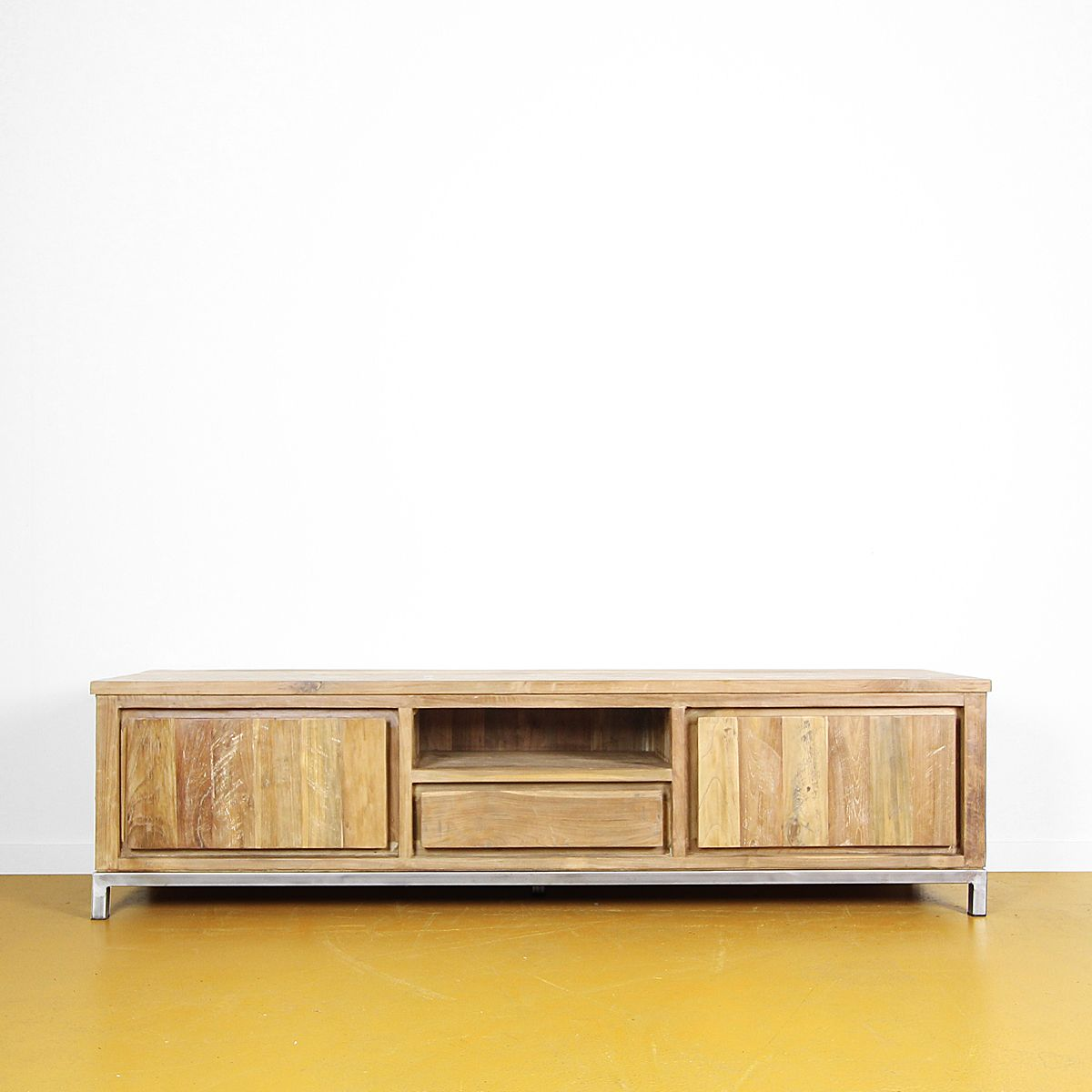 TV dressoir teak industrieel
