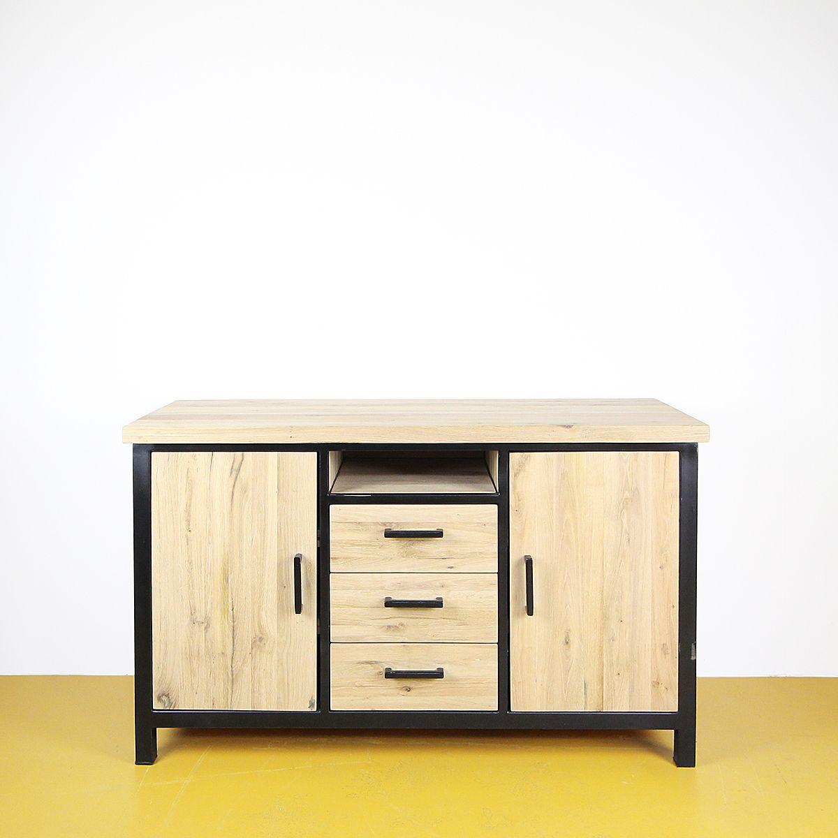 TV dressoir oud eiken - open vak