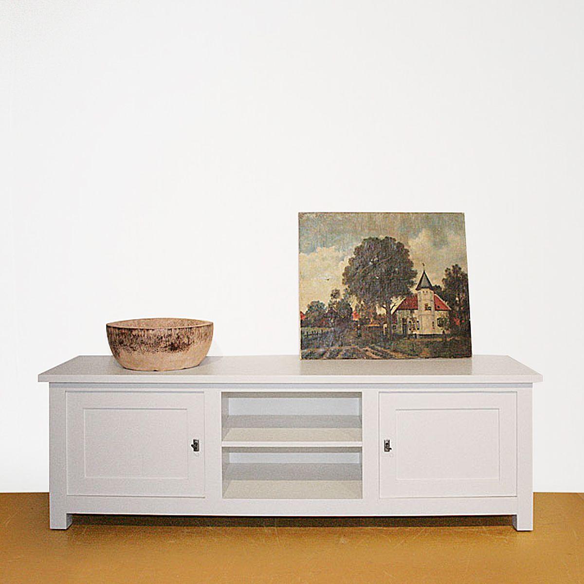 TV opzetkast op maat - hand geschilderd