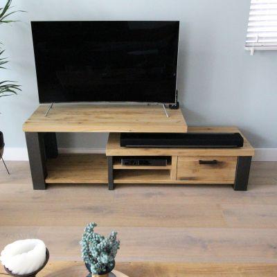 TV dressoir oud eiken - niveau's