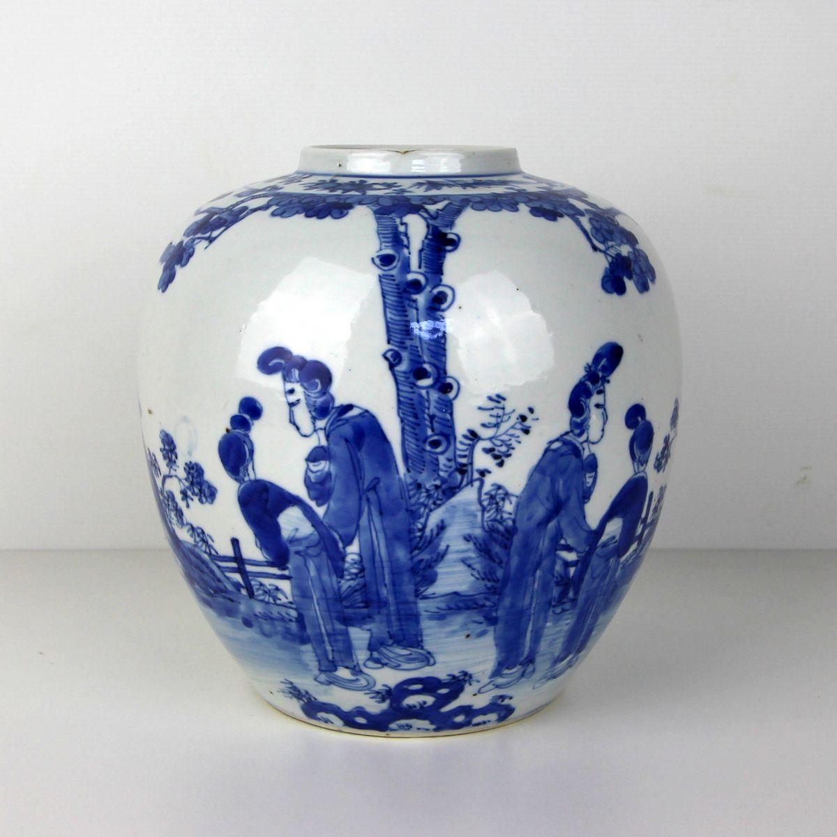 Gemberpot blauw - China - 19e eeuw