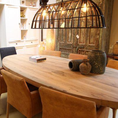 Eethoek ovale tafel