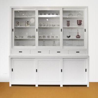 Winkelkast op maat wit met schuifdeuren